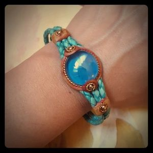 Vtg Leather Boho Bracelet